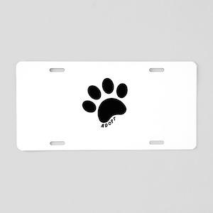 Adopt! Aluminum License Plate
