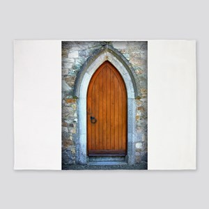 Door in Howth, Ireland 5'x7'Area Rug