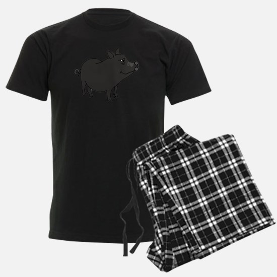 Funky Grey Pot Bellied Pig Pajamas