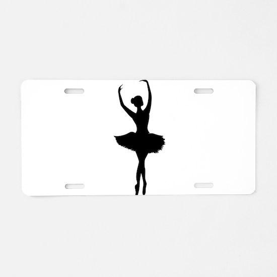 Ballerina B Aluminum License Plate