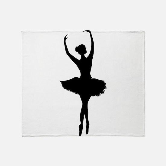 Ballerina B Throw Blanket