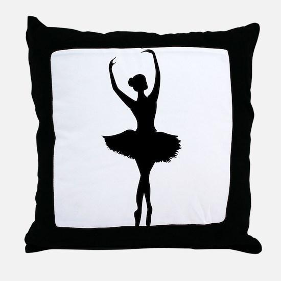 Ballerina B Throw Pillow