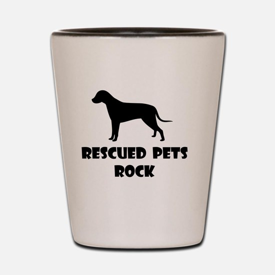 Rescued Pets Rock Shot Glass