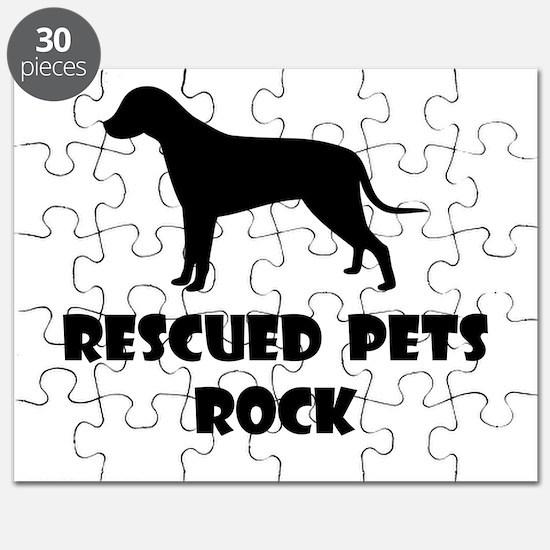 Rescued Pets Rock Puzzle