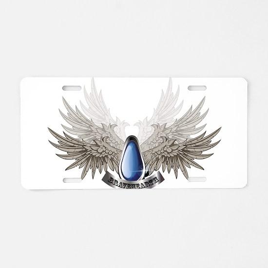 BraveHearth Aluminum License Plate