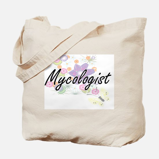 Mycologist Artistic Job Design with Flowe Tote Bag