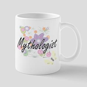 Mythologist Artistic Job Design with Flowers Mugs