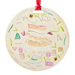 Jingle Bell Holly Round Ornament