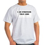 I am Stronger than AIDS Ash Grey T-Shirt