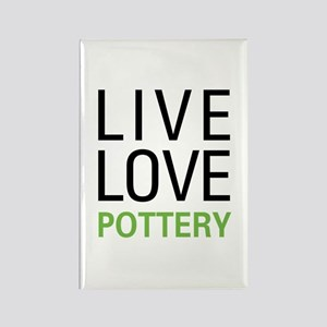 Live Love Pottery Rectangle Magnet