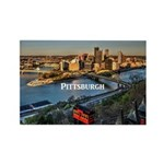Pittsburgh Rectangle Magnet (100 pack)