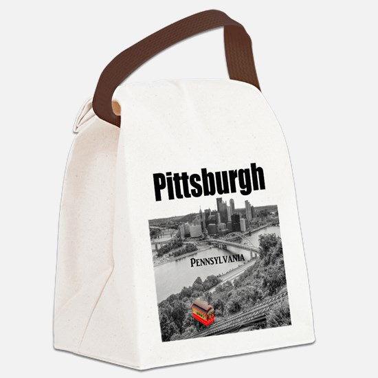 Pittsburgh Canvas Lunch Bag
