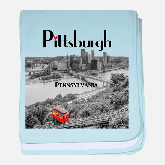 Pittsburgh baby blanket