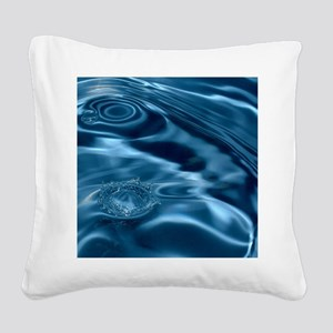 WATER RIPPLES 1 Square Canvas Pillow