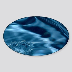 WATER RIPPLES 1 Sticker (Oval)