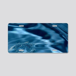 WATER RIPPLES 1 Aluminum License Plate