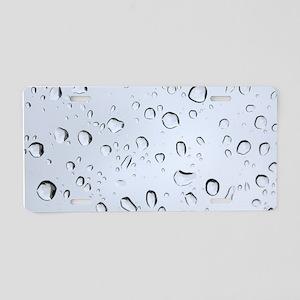 WATER DROPS 2 Aluminum License Plate