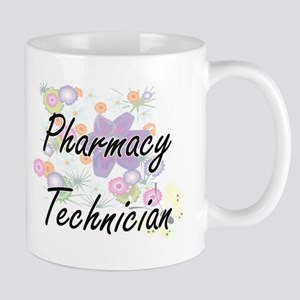 Pharmacy Technician Artistic Job Design with Mugs