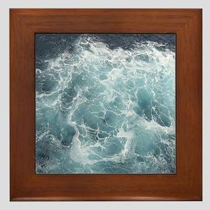 OCEAN WAVES Framed Tile