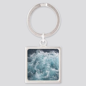 OCEAN WAVES Square Keychain