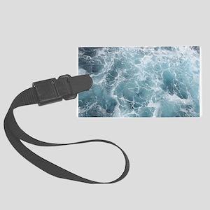 OCEAN WAVES Large Luggage Tag