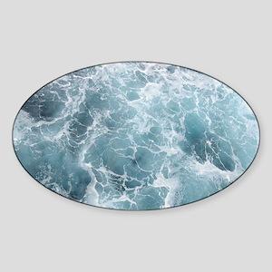 OCEAN WAVES Sticker (Oval)