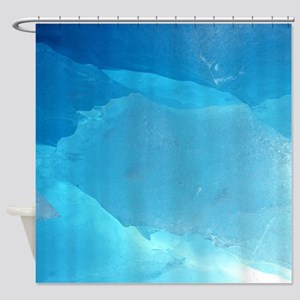 LIGHT TURQUOISE ICE Shower Curtain