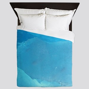 LIGHT TURQUOISE ICE Queen Duvet