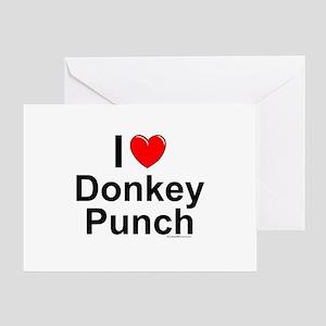 Donkey Punch Greeting Card
