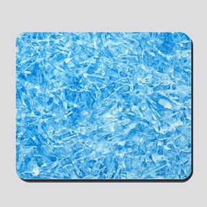 BLUE ICE CRYSTALS Mousepad