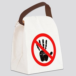 Hands Off! Canvas Lunch Bag