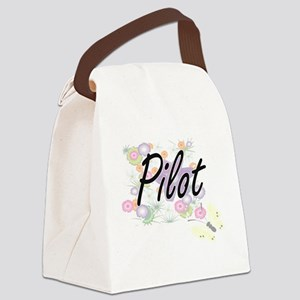 Pilot Artistic Job Design with Fl Canvas Lunch Bag