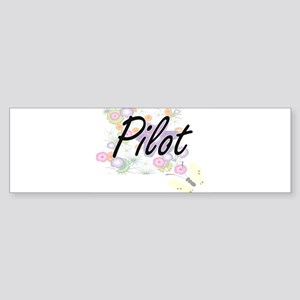 Pilot Artistic Job Design with Flow Bumper Sticker