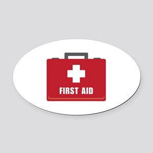 First Aid Oval Car Magnet