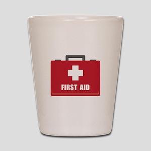 First Aid Shot Glass