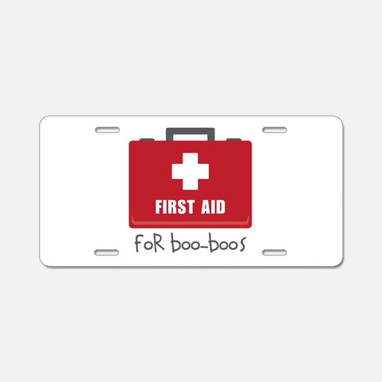 For Boo-Boos Aluminum License Plate