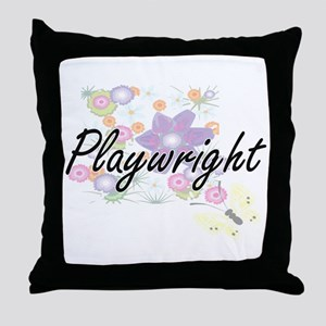 Playwright Artistic Job Design with F Throw Pillow