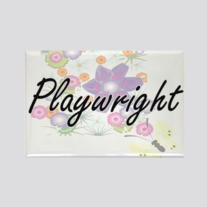 Playwright Artistic Job Design with Flower Magnets