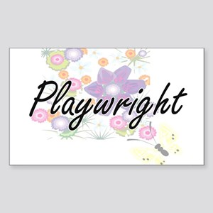 Playwright Artistic Job Design with Flower Sticker
