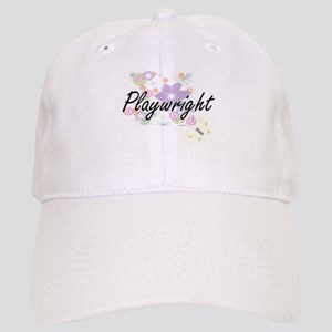 Playwright Artistic Job Design with Flowers Cap