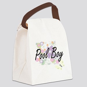 Pool Boy Artistic Job Design with Canvas Lunch Bag