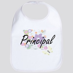 Principal Artistic Job Design with Flowers Bib
