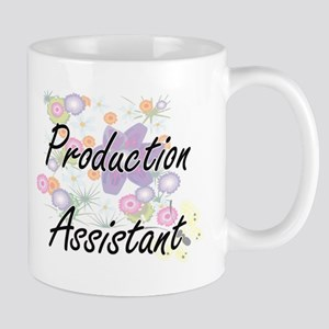Production Assistant Artistic Job Design with Mugs