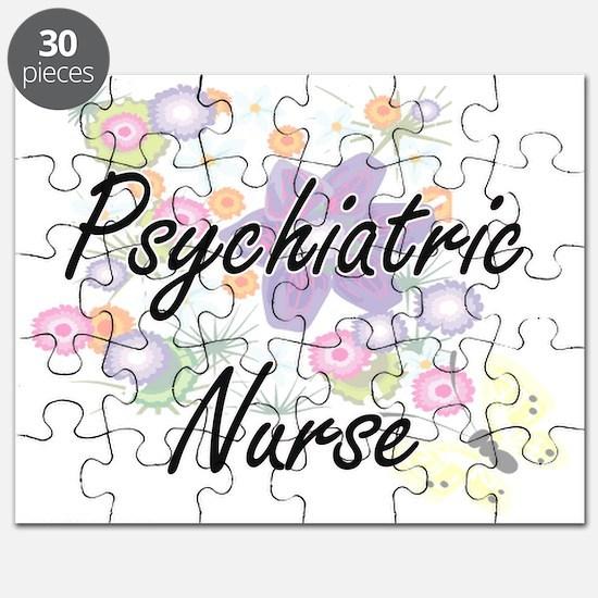 Psychiatric Nurse Artistic Job Design with Puzzle