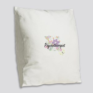 Psychotherapist Artistic Job D Burlap Throw Pillow