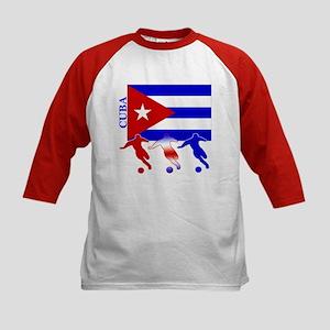 Cuba Soccer Kids Baseball Jersey