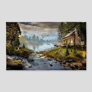 Wildlife Landscape Area Rug