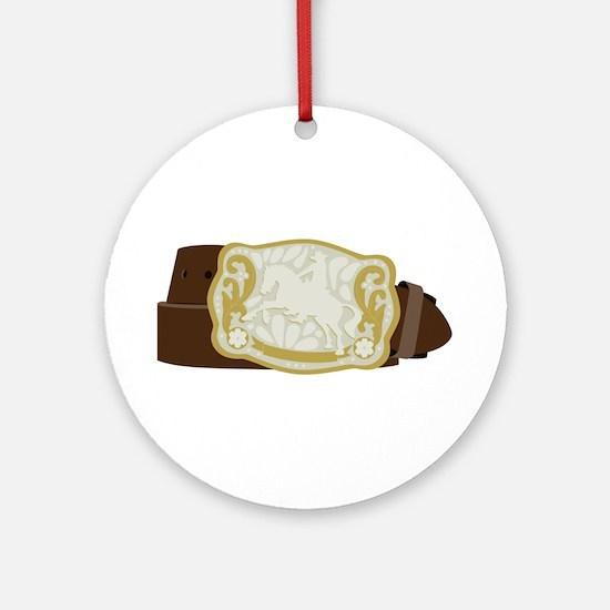 Cowboy Belt Round Ornament