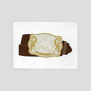 Cowboy Belt 5'x7'Area Rug