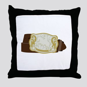 Cowboy Belt Throw Pillow